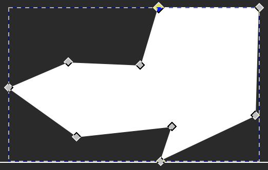 Il risultato dopo aver cambiato tipo al nodo ed aver eliminato la curva